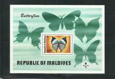 MALDIVAS. Año: 1975. Tema: FAUNA. MARIPOSAS.