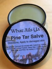 Pine Tar  Healing Salve - 2 oz Tin - Organic Oils / Natural Herbs, What Ails Ya