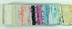 "Genuine Bali Batik 100% Cotton 40 pcs 2.5"" wide Jelly Roll Quilting"