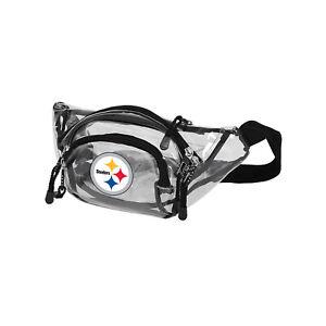 "Football Pittsburgh Steelers Transport Clear Belt Bag 13"" x 5"" x 5"" Licensed"