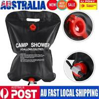 20L Camp Shower Bag Solar Heated Water Pipe Portable Camping Hiking Travel New