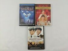 Lot of 3 Disney Movies The Greatest Game, Miracle, Princess Diaries DVDs