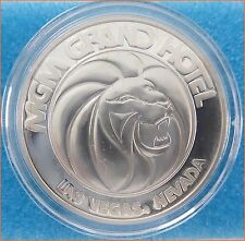 "1 Oz .999 Silver ""MGM GRAND HOTEL CASINO, LAS VEGAS, NEVADA"" Art Round/Bar G22"