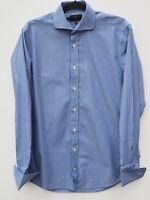 "Fantastic SIMON CARTER Men's Formal Long Sleeve Stripe Shirt 15.5"" collar 40-42"""