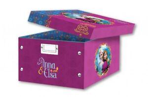 3x Faltbare Aufbewahrungsbox mit Frozen / Eiskönigin Motiv