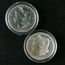 Two Morgan Silver Dollars - 1881-S and 1882-S from Genuine U.S. Mint Coinage