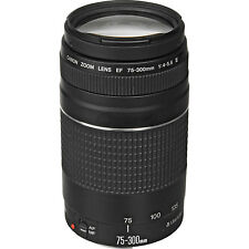 Canon EF 75-300mm f/4-5.6 III Lens for EOS 70D 6D 5D Mark III Rebel T5i T6i T6s