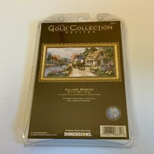 Dimensions * Village Serene * Gold Collection Petites Cross Stitch Kit NEW
