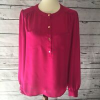 Vince Camuto Women's Size M Pink Long Sleeve pullover round Neck Top career