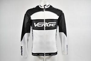 Verge Men's XS Primo Light Wind Cycling Jacket, White/Black/Carbon