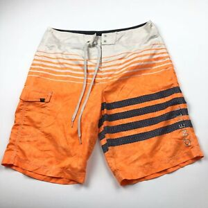 O'neill 32 Mens (Actual 32W) Orange Board Beach Surf Swim Shorts