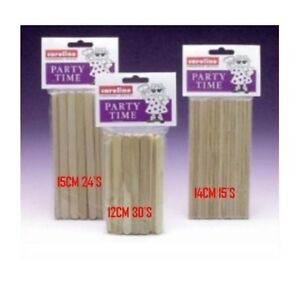 PARTY TIME LOLLY POP STICKS CANDY TOFFEE  APPLE LOLLYPOP WOODEN WOOD FLAT