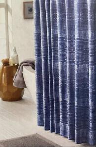 "Threshold Blue Tie-Dyed Stitch Shower Curtain 72x72"" NEW"