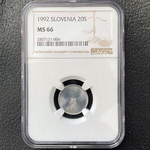 "Republic of Slovenia 20 Stotinov 1992 ""Asio Otus-Owl¨ NGC MS 66 KM# 8"