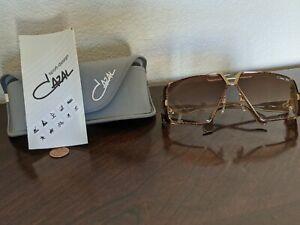 NOS Vintage Cazal 951 Sunglasses West Germany Gradient Tortoise Gold w/Case