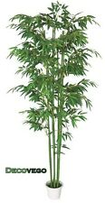 Bamboo Plastic Artifical Plant Tree With Real Wood Trunk 210cm Indoor Decovego