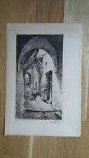 gravure eau-forte signée Armand Point rue Maroc 19ème siècle imprimerie Delâtre
