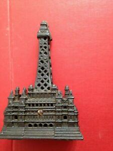 Vintage Cast Iron Blackpool Tower Circus Money Box PiggyBank Stands Approx 18cms