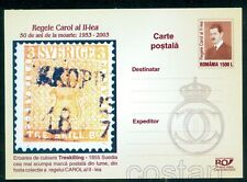 2003 King Carol II Stamp Collection/Sweden,Treskilling Yellow/Error,Romania,card