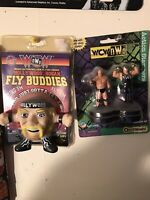 WCW NWO Hollywood Hulk Hogan Figure Card Stamper Lot WWE Toybiz Fly Buddies WWF