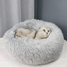 Pet Round Bed Soft Dog Cat Calming Warm Plush Round Nest Comfortable Sleeping