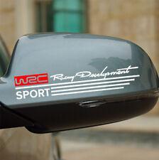 2 x Auto Car Aufkleber Sticker Decal WRC Racing  Rückspiegel Aufkleber rot weiß