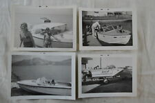 4 Vintage Photos Speed Boats Outboard Motors 830