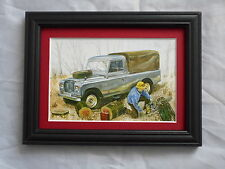 Land Rover 109 Inch One Ton Stunning Framed & Mounted Postcard **Offers**