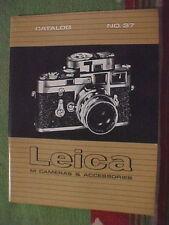 Vintage LEICA M CAMERAS & ACCESSORIES CATALOG No. 37  MAY 1 1964
