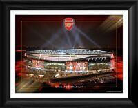 Arsenal Framed Emirates Stadium at Night