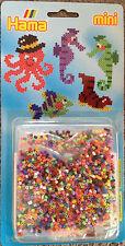 Hama GP Nr. 5501 - mini Bügelperlen - Krake, Seepferdchen, Schuh, Fisch