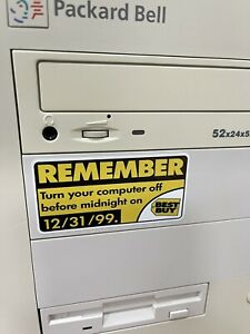 REMEMBER Turn Your Computer Off Best Buy Y2K Case FLAT Sticker Retro 586 PC Bug