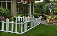 Vinyl Fence Small Pet Fencing Picket Kit Dog Or Garden Plastic No Dig Border