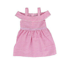 Plaided Doll Dress Outfits for 18 inch Girl Doll Accessories Girls Gift HJH