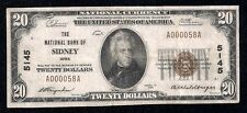 Sidney, Iowa, Ch# 5145,1929,$20.00,13 Reported, Low Serial #, One Bank Town!