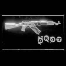 220047 AK47 Kalashnikov Airsoft Weapon Machine Attack Exhibit LED Light Sign