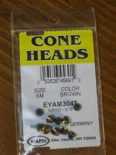 Wapsi Cone Heads Painted for Fly Tying coneheads, size Small - Brown