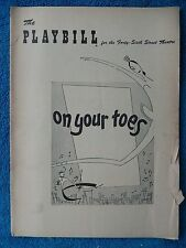 On Your Toes - Forty-Sixth Street Theatre Playbill - November 15th, 1954 - Van