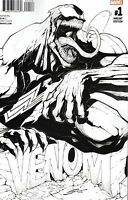 Venom #1 (Diamond UK B&W Variant / Marvel Now / Movie / 2017 / NM)