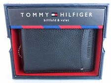 New Tommy Hilfiger Real Black Leather Genuine Wallet Credit Card ID for Men