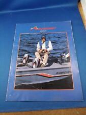 ALUMACRAFT 1988 BOAT SALES BROCHURE FISHING LUNKER BASS JON BOAT LUXURY