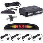 Car LED Display 4 Parking Sensor Reverse Backup Buzzer Radar Alarm System Sound