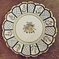 Assiette Ancienne Décor Floral  / S.TIMIONEDA ,TALAYERA art de la table