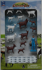 NewRay Country Life Set - 14 Ziegen mit Zubehör 1:32 Neu/OVP Bauernhof Farm