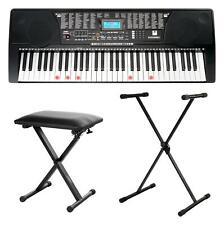 61 Tastiera Musicale Pianola Elettrica Pianoforte USB con Tasti Illuminati MP3