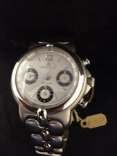 Bertolucci Vir Watch Stainless Steel White Dial New 664 Chrono Automatic