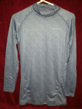 Nwt - Tesla Mens Thermal Wintergear Compression Baselayer Ls Top - Blue/Gray - L