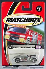 Matchbox MB 1 Volkswagen Concept 1 Beetle Convertible Silver Gray Mint On Card