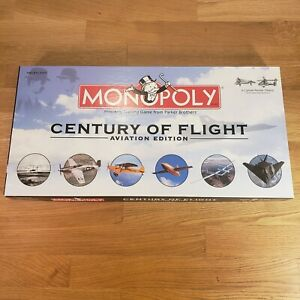 Monopoly Century of Flight Aviation Edition Pewter planes airplane 2003 Complete