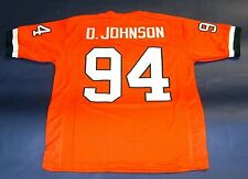DWAYNE JOHNSON CUSTOM UNIVERSITY OF MIAMI HURRICANES JERSEY THE ROCK BALLERS